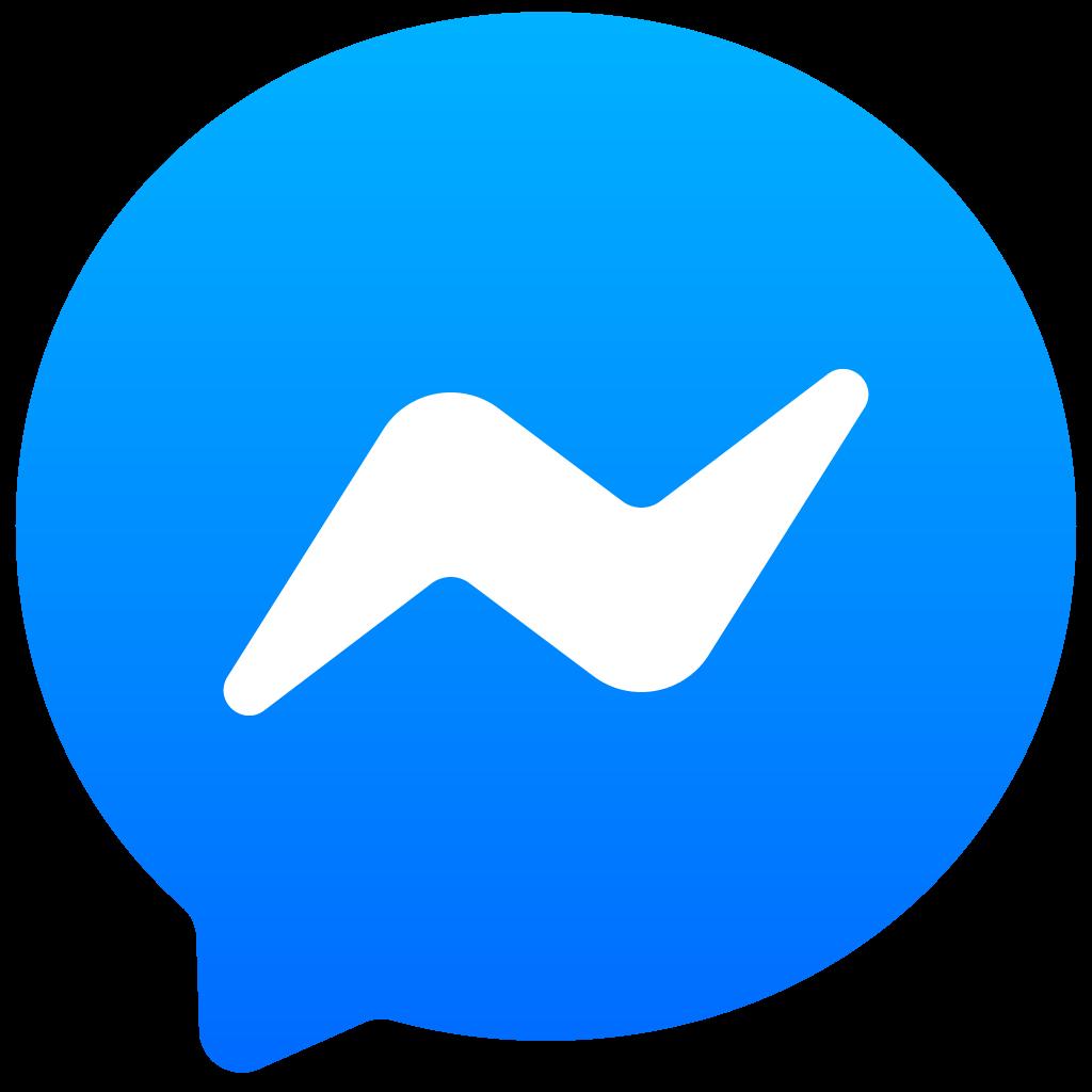 logo van facebook messenger, neem contact op via deze weg